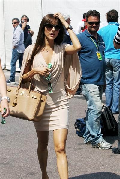 Jessica Michibata attends the Formula 1 Monaco Grand Prix (May 24-27, 2012)