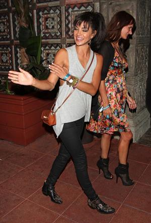 Jessica Szohr arriving to the Mayan Theater in Los Angeles, August 14, 2012