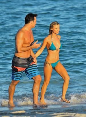 Joanna Krupa bikini candids on the beach in Miami 11/3/12