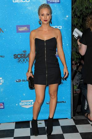 Kaley Cuoco at Spike TV's Scream 2009 held at the Greek Theatre in Los Angeles, California