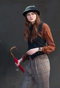 Karen Gillan - Set of 'Not Another Happy Ending' - July 30, 2012