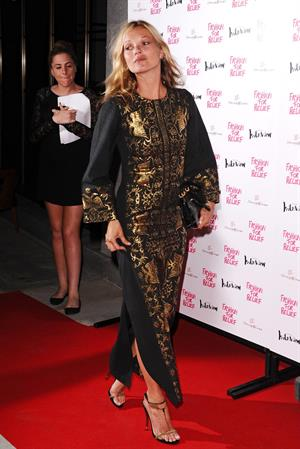 Kate Moss Naomi host an Olympic Celebration Dinner with Fashion For Relief London on August 9, 2012