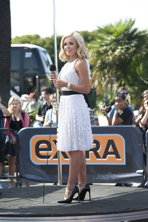 Katherine Jenkins Visits  Extra  at Universal Studios Hollywood in Los Angeles  Oct. 2, 2013