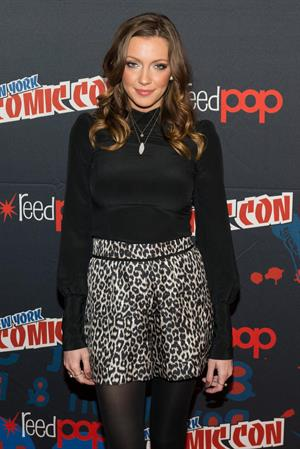 Katie Cassidy 2012 New York Comic Con - Day 4 (Oct 14, 2012)