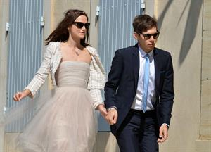 Keira Knightley Wedding ceremony in France - May 4, 2013