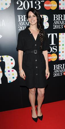 Lana Del Rey Attends the 2013 BRIT Awards at the O2 Arena in London on February 20, 2013