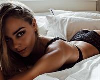 Karri Nicholas in lingerie