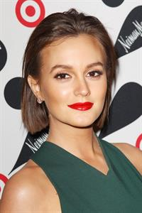 Leighton Meester Target Neiman Marcus Holiday Collection launch event in NYC 11/28/12