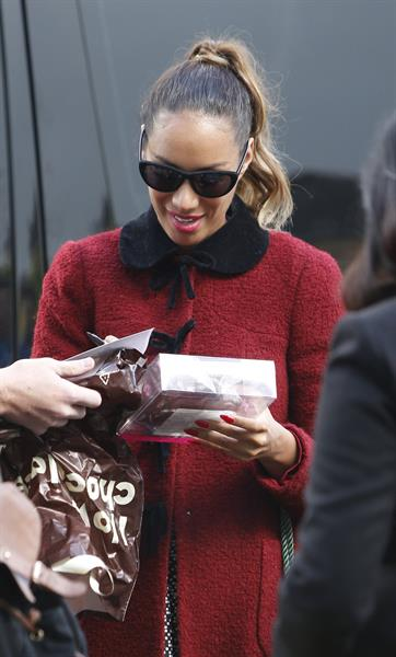 Leona Lewis Real Radio in Manchester - September 19, 2012