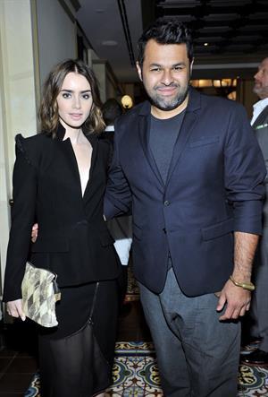 Lily Collins - CFDA & Vogue Fashion Fund Dinner 10/23/13