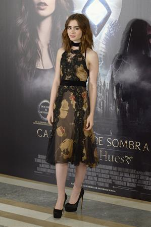 Lily Collins  The Mortal Instruments: City of Bones  Madrid Premiere 8/22/2013