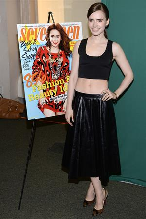 Lily Collins Seventeen Magazine September Cover Issue Celebration - New York, Aug. 6, 2013