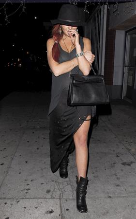 Lindsay Lohan Leaving the Tasting Kitchen in Studio City (10/14/12)