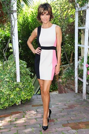 Lisa Rinna Rocks a LRK dress on her way to a photo shoot in Beverly Hills (May 22, 2013)