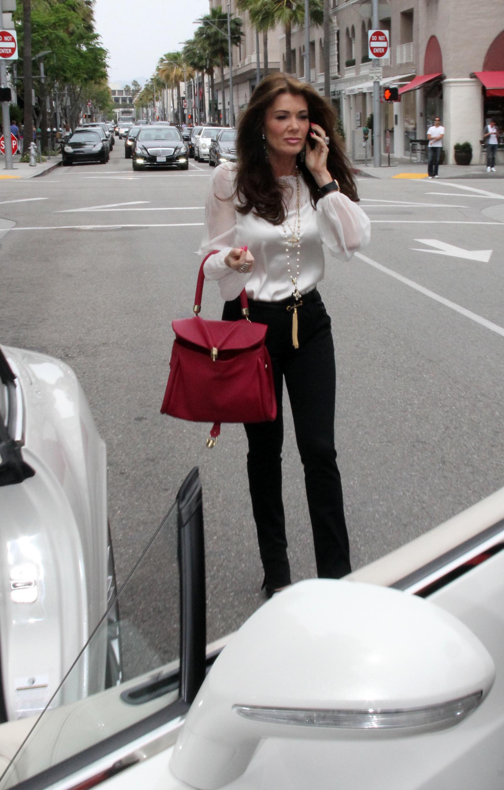 Lisa Vanderpump Spotted with daughter Pandora while shopping in Beverly Hills (May 9, 2013)