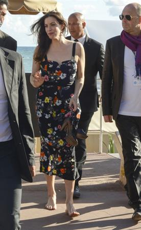 Liv Tyler Leaves the La Mandala Beach Club in Cannes on May 17, 2013