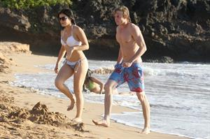 Lucy Hale On the Beach with her boyfriend Graham Rogers and friends, Hawaii, on June 6, 2013