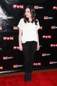 Lucy Hale Power Holiday Smiles campaign NY 11/20/12