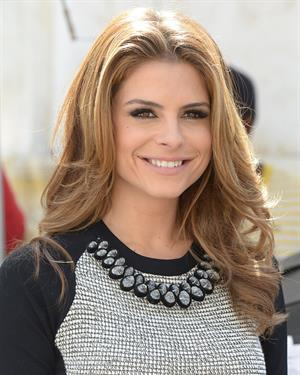 Maria Menounos on the set of Extra in LA on March 15, 2013
