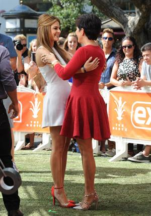 Maria Menounos On the set of Extra in Los Angeles on August 20, 2013