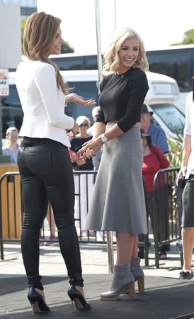 Maria Menounos on the set of Extra in LA 10/2/13