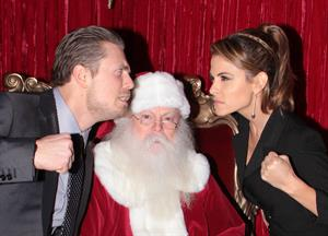 Maria Menounos Christmas themed Photoshoot with Santa Claus at the Grove in LA 29.11.12