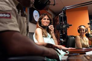Melania Trump Visits SiriusXM Studios (May 31, 2012)