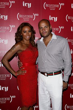 Melanie Brown Belevedere Red Launch at the Ivy Pool in Sidney 01.12.12