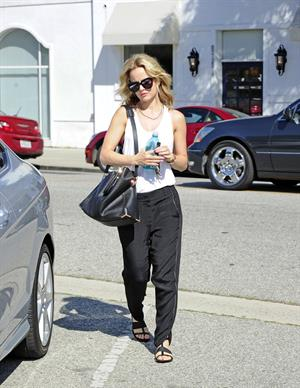 Mena Suvari running some errands in West Hollywood on May 28, 2013