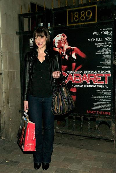 Michelle Ryan The Savoy Theatre in London - October 4,2012