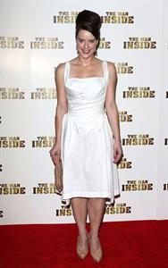 Michelle Ryan attends 'The Man Inside' UK film premiere at the Vue Leicester Square on July 24, 2012 in London, England