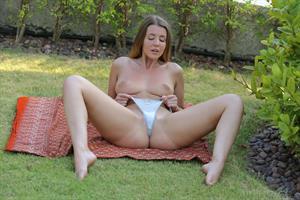 Sybil A in  Dream  for Viv Thomas - Sybil A enjoys the outdoor with a self masturbation in the garden