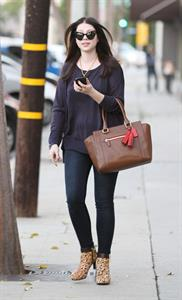 Michelle Trachtenberg Leaving Salon Benjamin in West Hollywood - November 6, 2012