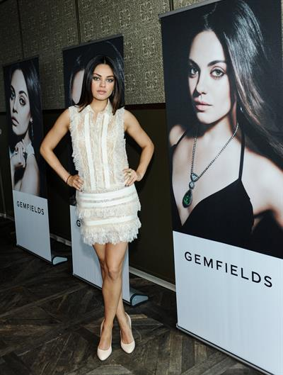 Mila Kunis The Launch Of Gemfields' New Brand Ambassador, Feb 19, 2013