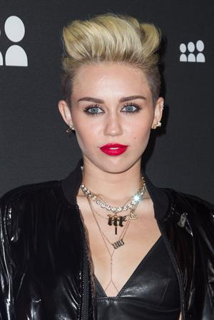Miley Cyrus Attends the Myspace relaunch at The El Rey Theater in Los Angeles on June 12, 2013