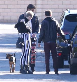 Miley Cyrus leaving a family gathering in Palm Springs 12/26/12