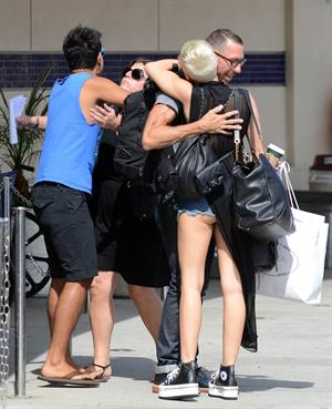 Miley Cyrus in booty shorts in LA