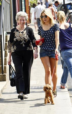 Mollie King London candids April 23, 2011