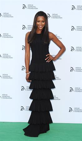 Naomi Campbell - Hits the red carpet at the Novak Djokovic Foundation London gala dinner (08.07.2013)