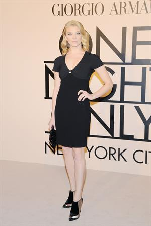 Natalie Dormer Armani - One Night Only New York -- Oct. 24, 2013