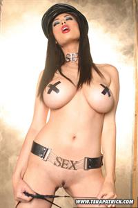 Tera Patrick dressed as a biker chick