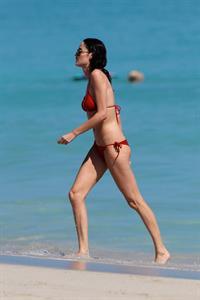 Nicole Trunfio bikini candids in Miami Beach 11/1/12