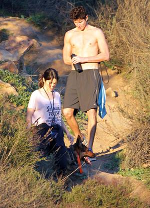 Nikki Reed walking her dogs in the Santa Monica Mountains (03.02.2013)