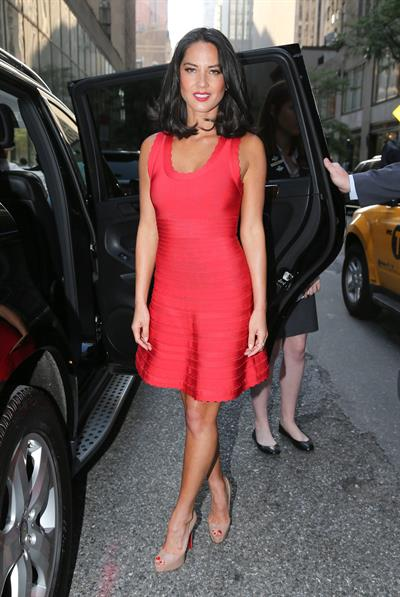 Olivia Munn Outside NBC Studios, June 19, 2013