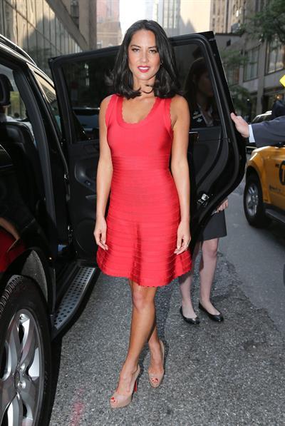 Olivia Munn Outside NBC Studios, June 19, 2013