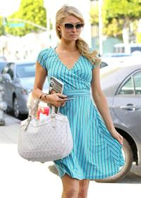 Paris Hilton Heading To Her Office In Beverly Hills - April 30-2013
