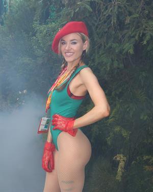 Paula Labaredas - Wears sexy  Street Fighter  costume at Comic-Con 2012 in San Diego (July 16, 2012)