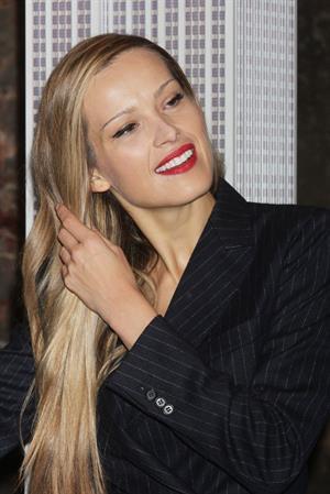 Petra Nemcova Empire State Building in NYC 10/16/12