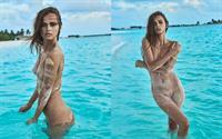 Xenia Deli nude on the beach