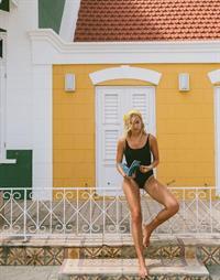 Nathalie Darcas in a bikini
